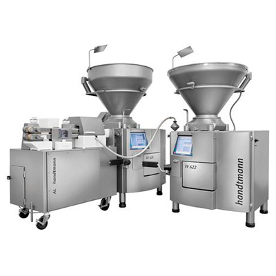 CONPROLINK СИСТЕМА KVLSH 162 Handtmann Разделка и формование или навешивание перекрученных продуктов в альгинатной оболочке